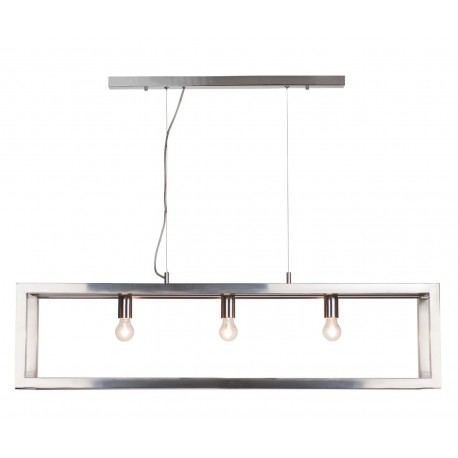 Suspension Open rectangle chrome 120 cm