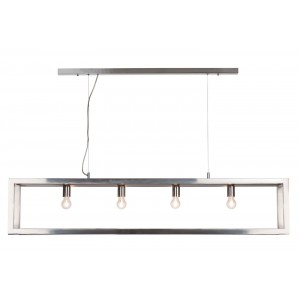Suspension Open rectangle chrome 150 cm