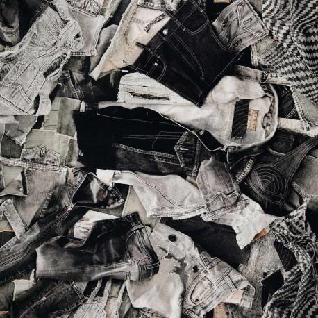 Tissu On The Road graphite Jean Paul Gaultier