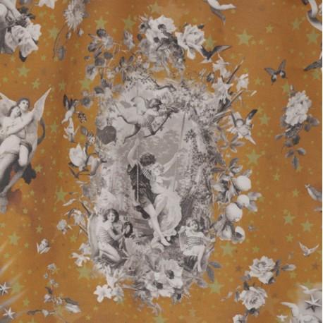 Tissu Angelots écarlate Jean Paul Gaultier