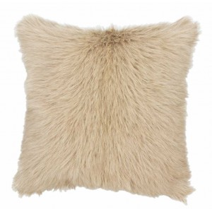 Coussin fourrure Caprino Sable, Now's Home
