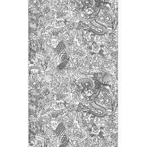 Papier peint Horimono Noir, Jean Paul Gaultier