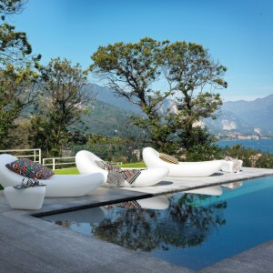 Chaise longue Petal blanc, Missoni Home