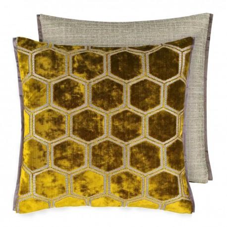 Designers Guild Tissu Manipur naturel housses de coussin