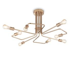 Plafonnier Triumph doré, Ideal Lux