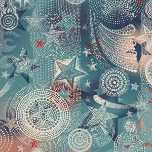 Papier peint Etoiles Bleu, Jean Paul Gaultier