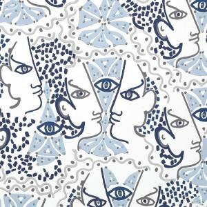 Papier peint vinyle Union Azur, Lelièvre