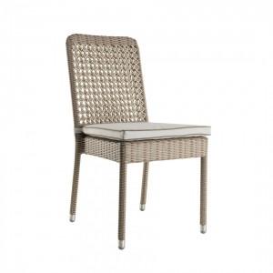Chaise exterieur en résine avec coussin Antibes, KOK Maison