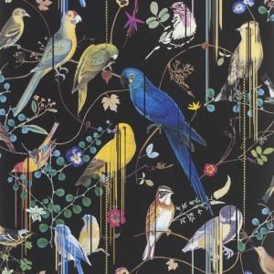 Papier peint Birds Sinfonia crépuscule, Christian Lacroix