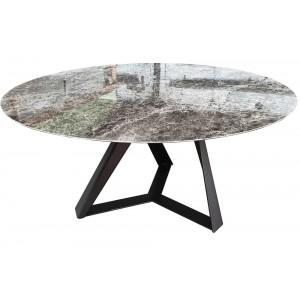 Table de repas Céramique ronde Tornado 8 FINITIONS