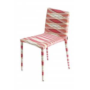 Chaise Miss Vulcano rouge, Missoni Home