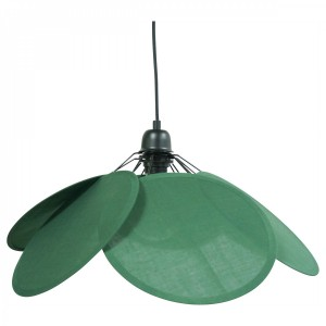 Suspension en forme de fleur verte en coton diamètre 73 cm