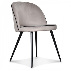 Chaise velours taupe Alma