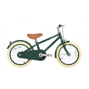 Vélo vintage 16' vert avec panier en osier, Banwood