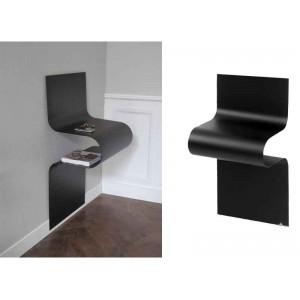 Chevet/Console design ondulé noir mat, Vidame
