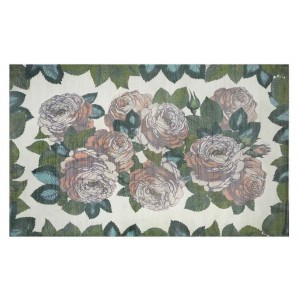 Tapis The Rose Sepia John Derian à fleurs pastel