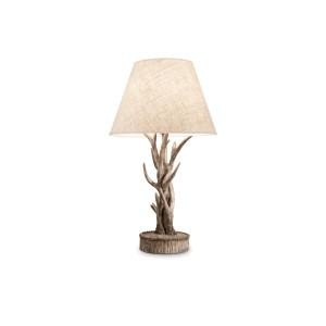 Lampe de table Chalet Ideal Lux composée de bois de cerfs