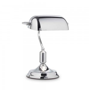 Lampe de bureau Lawyer Ideal Lux finition métal chromé