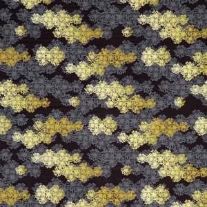 Velours Hana Kiriko noir et gris, K3 design by Kenzo Takada