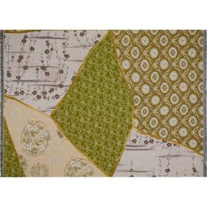 Plaid frangé Tsugi-Sakura au motif patch-Kintsugi K3 by Kenzo Takada