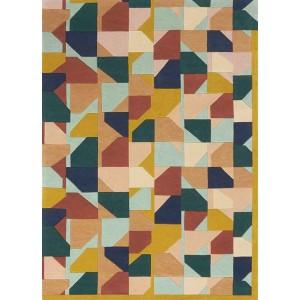 Tapis Tangram multicolore kaléidoscope de formes Toulemonde Bochart