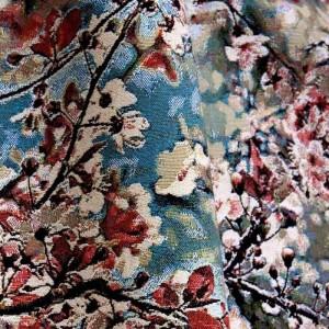 Tissu Sakura Guimauve Jean Paul Gaultier au motif fleuri