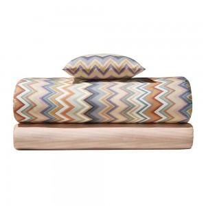 Housse de couette Andres 160 Missoni Home en coton motif zigzag