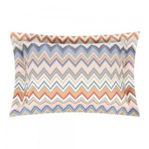 2 taies d'oreiller Andres 160 en coton motif zigzag Missoni Home