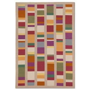 Tapis Algarve en laine et coton aux carrés colorés Missoni Home