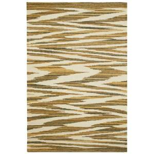 Tapis Argentina 621 en laine et coton beige brun et ocre Missoni Home