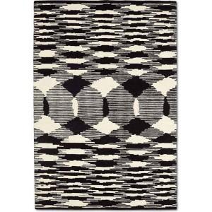 Tapis Valdivia noir et écru en laine au motif Ikat Missoni Home
