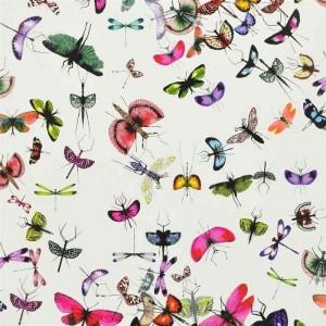 Papier Peint Mariposa Perroquet motifs insectes Christian Lacroix