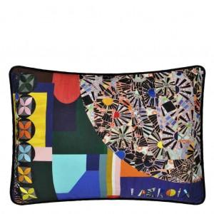 Coussin Mosaic Freak Multicolore motifs abstraits Christian Lacroix