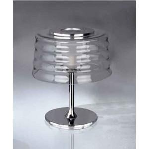 Lampe ronde design en verre soufflé à la main transparent Penta Light