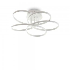 Plafonnier design rond blanc mat Karol Ideal Lux