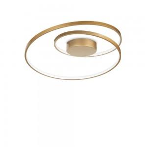 Plafonnier/Applique design rond doré led Oz Ideal Lux diamètre 60 cm