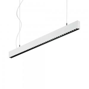 Suspension blanche design fine rectangulaire led Steel Ideal Lux 107cm