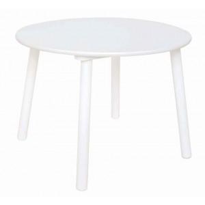 Table ronde blanche bois pour chambre d'enfant JaBaDaBaDo