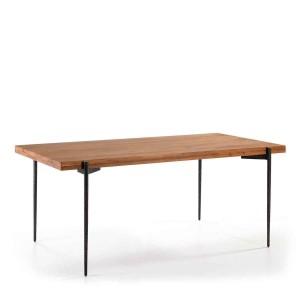 Table bureau rectangulaire en bois naturel 180cm Thai Natura