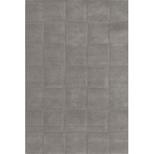 Tapis Block gris faux uni aux plaques en relief Toulemonde Bochart