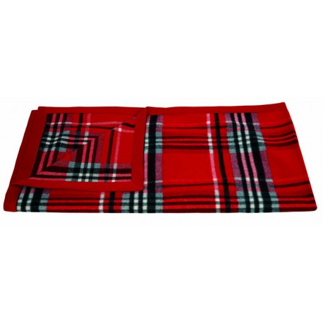 Plaid Humphrey rouge Lelievre