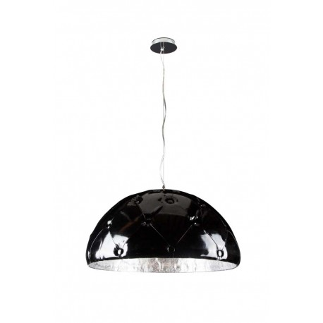 Suspension Chesterfield noire/argent