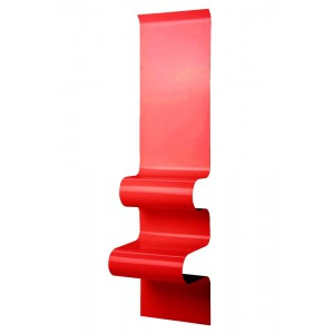 Chevet design ondulé rouge brillant, Vidame
