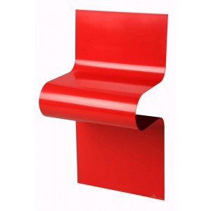 Chevet design ondulé rouge brillant by Vidame
