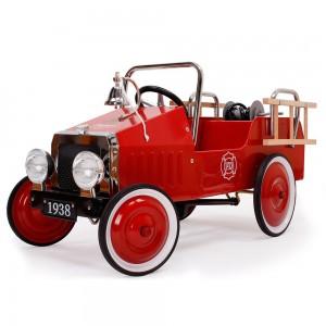 Voiture à pédales metal camion de pompier rouge Ford, Protocol