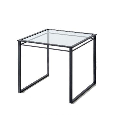 Bout de canapé Graphic anthracite/verre
