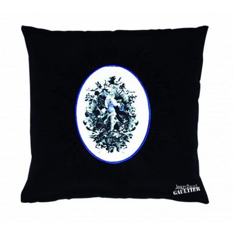 Coussin Vaporeux noir bleu Jean Paul Gaultier